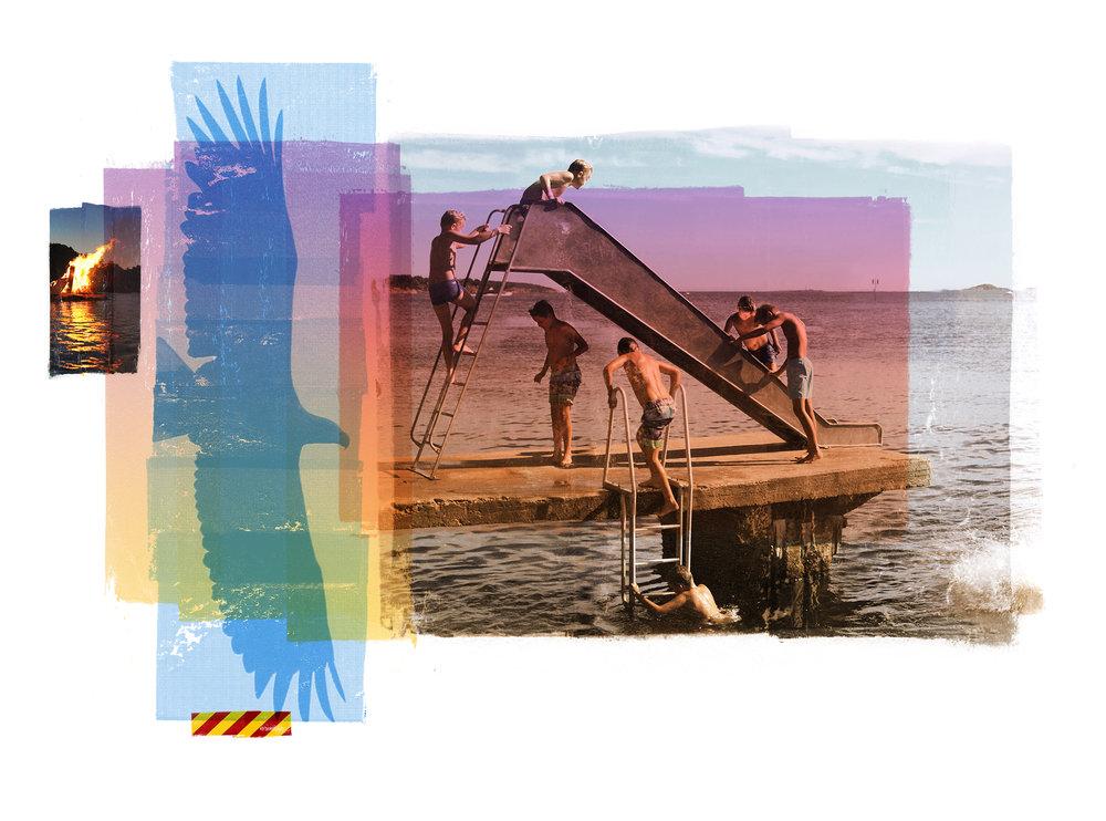 Shadow in the boy   Original Archival UV Pigment Print / Silkscreen 155 x 115 cm / 61 x 45 in Edition of 20 + 2 Ap Editeur: Per Fronth Studios / Printer Henrik Aunevik  15/2017: