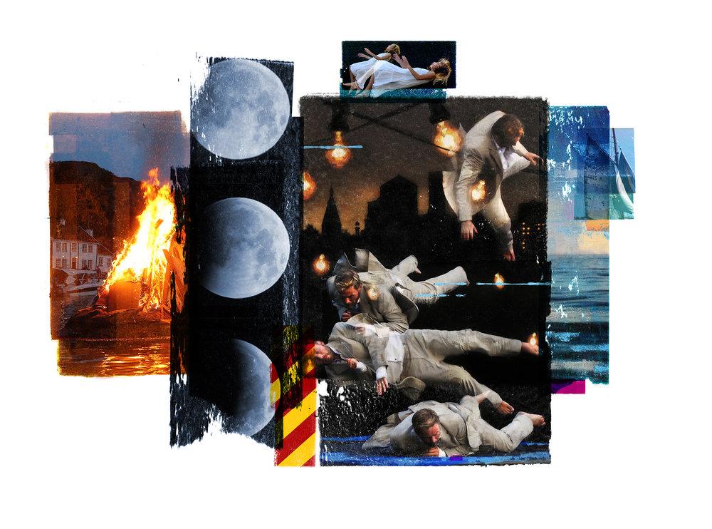 Gravity (Joy) / Sea of Tranquility / Eclipse / Trampoline  Original Archival UV Pigment Print / BFK Rives 300 gr, Handcut 155 x 115 cm / 61 x 45 in Edition of 10 + 1 Ap Editeur: Per Fronth Studios / Printer Henrik Aunevig Commission: Adv Brækhus / Oslo  16/2017: