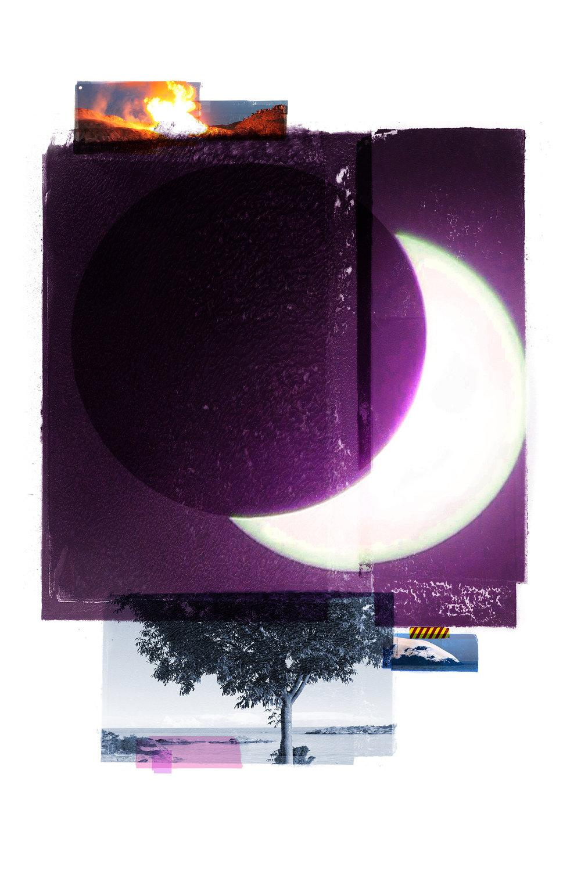 Solar / Blue Aspen (Eclipse)  Original Archival UV Pigment Print / BFK Rives 300 gr 120 x 80 cm / 47 x 32 in Edition of 50 + 5 Ap Editeur: Per Fronth Studios / Printer Henrik Aunevik  02/2016: