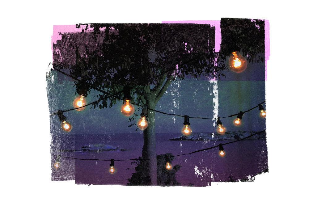 A View from the party (Magenta)  Original Archival UV Pigment Print / BFK Rives 300 gr 120 x 80 cm / 47 x 32 in Edition of 50 + 5 A Editeur: Per Fronth Studios / Printer Henrik Aunevik  04/2016: