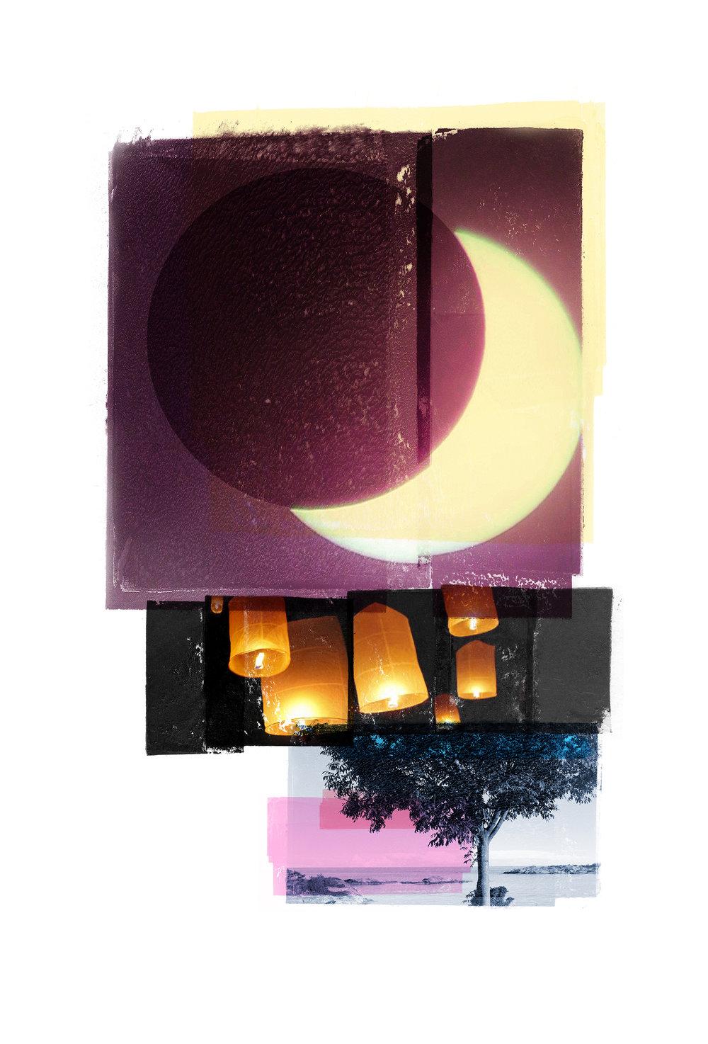 Wishlist / Eclipse   Original Archival UV Pigment Print / BFK Rives 250 gr 35 x 56 cm / 22 x 13,7 in Edition of 50 + 7 Ap Editeur: Per Fronth Studios / Printer Henrik Aunevik  05/2016: