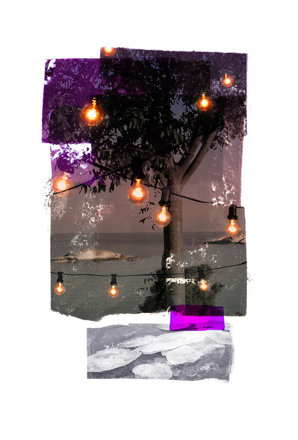 Rim of the party (Obstruction view) Archipelago  Original Archival UV Pigment Print / BFK Rives 250 gr 35 x 56 cm / 22 x 13,7 in Edition of 50 + 7 Ap Editeur: Per Fronth Studios / Printer Henrik Aunevik  08/2016: