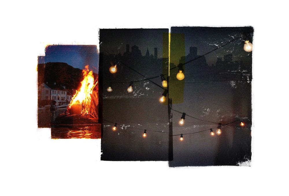 Olsok / Edge of our party  Original Archival UV Pigment Print / BFK Rives 250 gr 35 x 56 cm / 22 x 13,7 in Edition of 50 + 7 A Editeur: Per Fronth Studios / Printer Henrik Aunevik  10/2016
