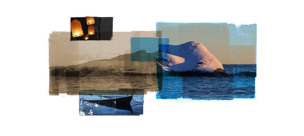 Landscape / Divided / Wintersun  Original Archival UV Pigment Print / BFK Rives 250 gr 56 x 25 cm / 22 x 9,8 in Edition of 50 + 7 Ap Editeur: Per Fronth Studios / Printer Henrik Aunevik  12/2016: