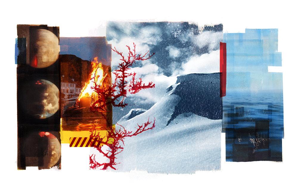 Reservoir / Ritual / Eclipse / Olsok (Archipelago)  Photolitho / IDEM PARIS / BFK Rives 300 gr 102 x 78 cm / 40 x 30,7 in Edition of 100 + 10 Ap Editeur: IDEM PARIS / Per Fronth   15/2016: