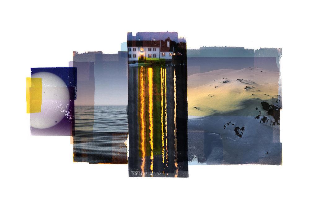 Iris / Time & Reflection / Passage  Photolitho / BFK Rives 300 gr 57 x 38 cm / 22,5 x 15 in Edition of 100 + 10 Ap Editeur: IDEM PARIS / Per Fronth   17/2016: