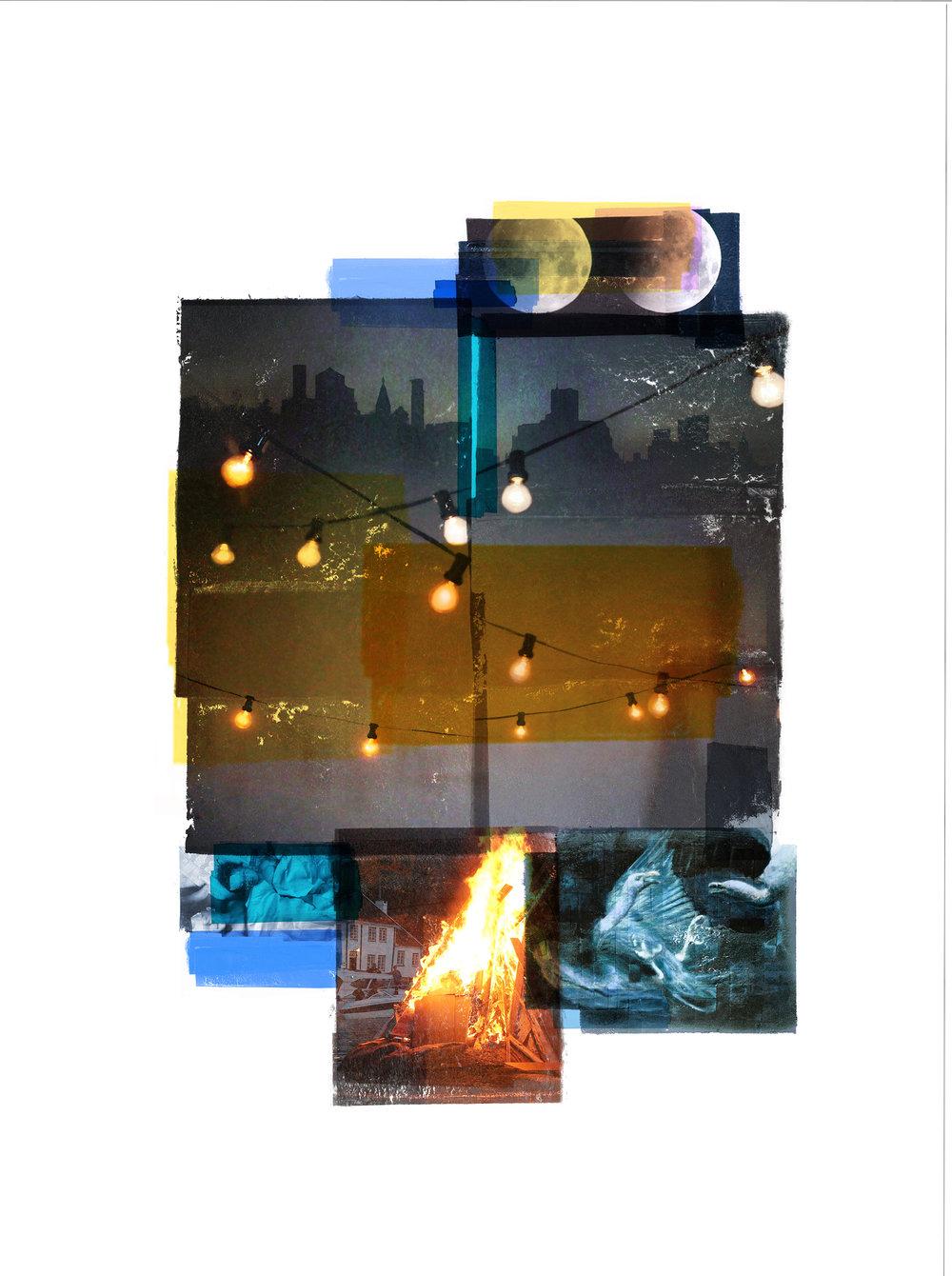 Rim of the party / Horizontal   Original Archival UV Pigment Print / BFK Rives 250 gr 31 x 23 cm / 12 x 9 in Edition of 50 + 7 Ap Editeur: Per Fronth Studios / Printer Henrik Aunevik  29/2016: