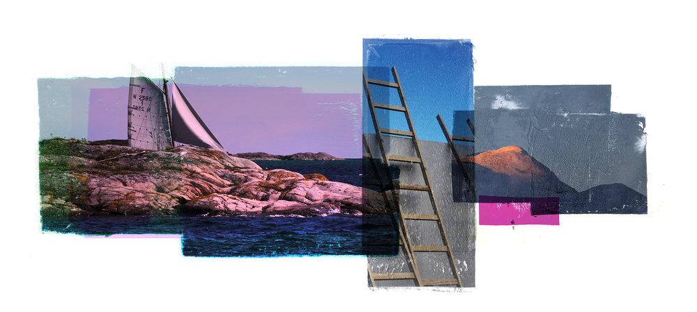 Venia / Second Wind / Winter   Original Archival UV Pigment Print / BFK Rives 250 gr 56 x 25 cm / 22 x 9,8 in Edition of 50 + 7 Ap Editeur: Per Fronth Studios / Printer Henrik Aunevik Commissions: Bohus   01/2015: