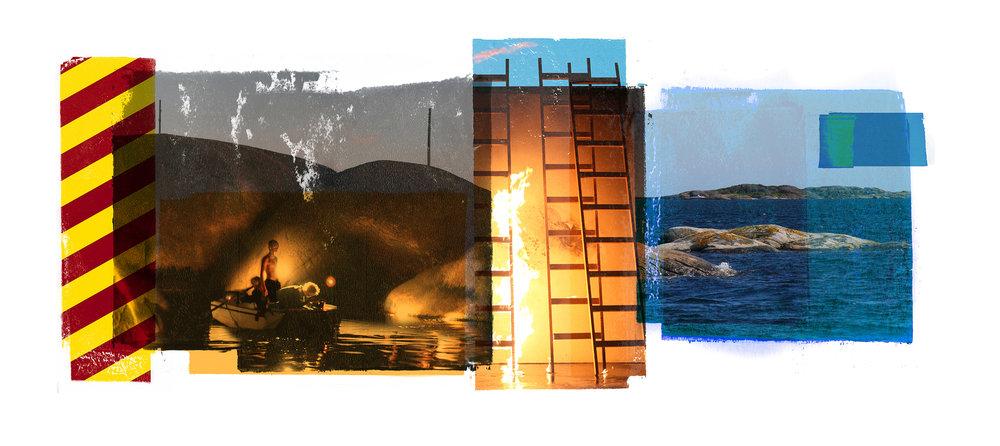 Venia / Bridge (Archipelago)  Original Archival UV Pigment Print / BFK Rives 250 gr 56 x 25 cm / 22 x 9,8 in Edition of 50 + 7 Ap Editeur: Per Fronth Studios / Printer Henrik Aunevik  06/2015: