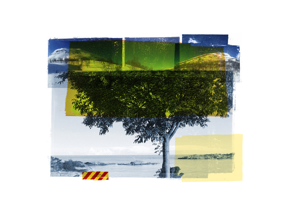 Blue Tree / Reservoir / Yellow   Original Archival UV Pigment Print / BFK Rives 250 gr 35 x 25 cm / 13,7 x 10 in Edition of 50 + 7 Ap Editeur: Per Fronth Studios / Printer Henrik Aunevik  08/2015: