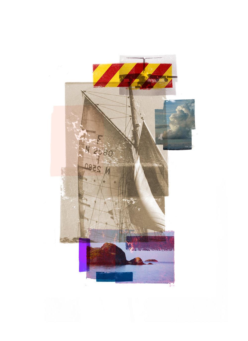 Daydrift / AFG / Archipelago   Original Archival UV Pigment Print / BFK Rives 250 gr 18 x 25 cm / 7 x 9,8 in Edition of 50 + 7 Ap Editeur: Per Fronth Studios / Printer Henrik Aunevik  11/2015: