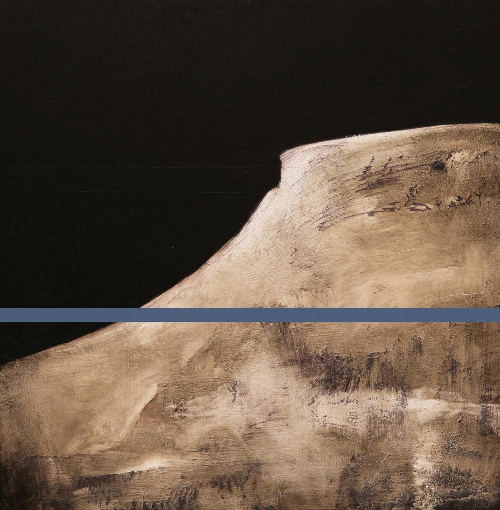 Reservoir /Golden Ratio ( ØO)  Mixed Media / Oil on MDF 40 x 40 cm / 16 x 16 in Collection of Skigaarden / Hemsedal / Norway 2014
