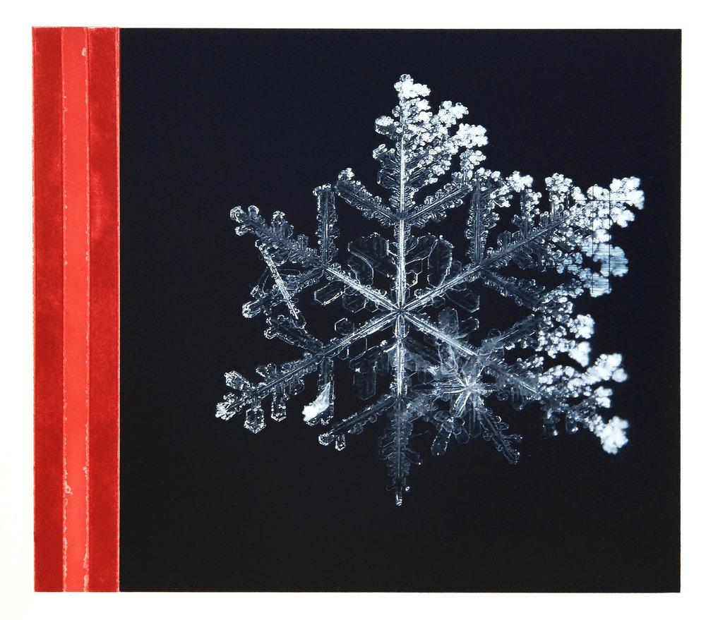 Crystal / Reservoir (Tesla) Carmine red  Polymer / Etching / Drypoint 40 x 45 cm / 15,7 x 17,7 in Edition of 40 + 7 Ap Editeur: Per Fronth / Atelje Ole Larsen / Helsingborg  40/2015: