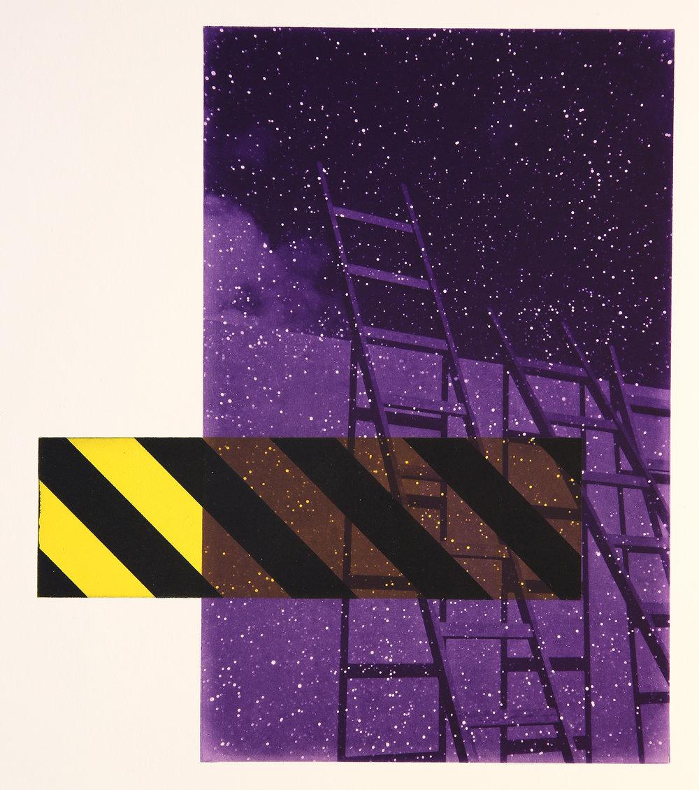 Venia / Estrella / Intermezzo / Opportunity  Polymer / Etching / Drypoint 44 x 58 cm / 17 x 23 in Edition of 40 + 7 Ap Editeur: Per Fronth / Atelje Ole Larsen / Helsingborg  42/2015: