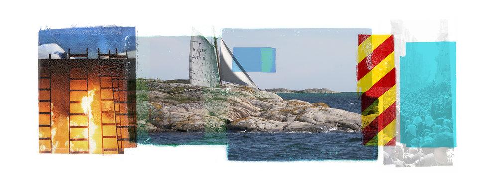 Venia / Second Wind / Hunger  Original pigment print / BFK rives 250 gr 76 x 25 / 30 x 10 Edition of 50 + 7 Ap Editeur: Per Fronth Studios / Henrik Aunevik  02/2014: