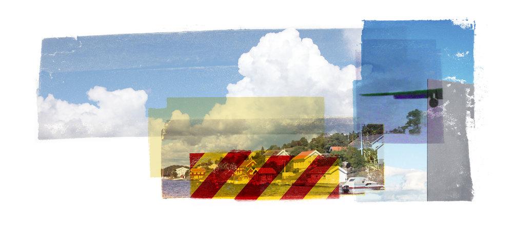 Cumulus I. ( Sagesund ) Archipelago  Original pigment print / BFK rives 250 gr 56 x 25 cm / 22 x 9,8 in Edition of 50 + 7 Ap Editeur: Per Fronth Studios / Henrik Aunevik  03/2014: