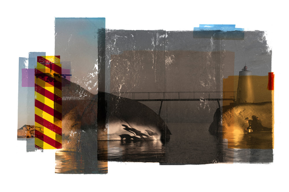 Bridge / Teenage lux / Shadows (Archipelago)   Original pigment print /BFK rives 250 gr 120 x 80 cm / 47 x 32 in Edition of 35 + 7 Ap Editeur: Per Fronth Studios / Henrik Aunevik  07/2014: