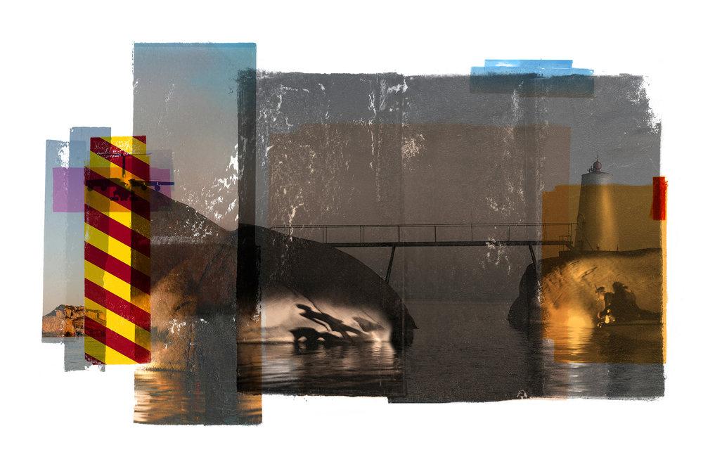 Bridge / Teenage lux / Shadows (Archipelago)  Original pigment print /BFK rives 250 gr 120 x 80 cm / 47 x 32 in Edition of 35 + 7 Ap Editeur: Per Fronth Studios / Henrik Aunevik  07/2014: