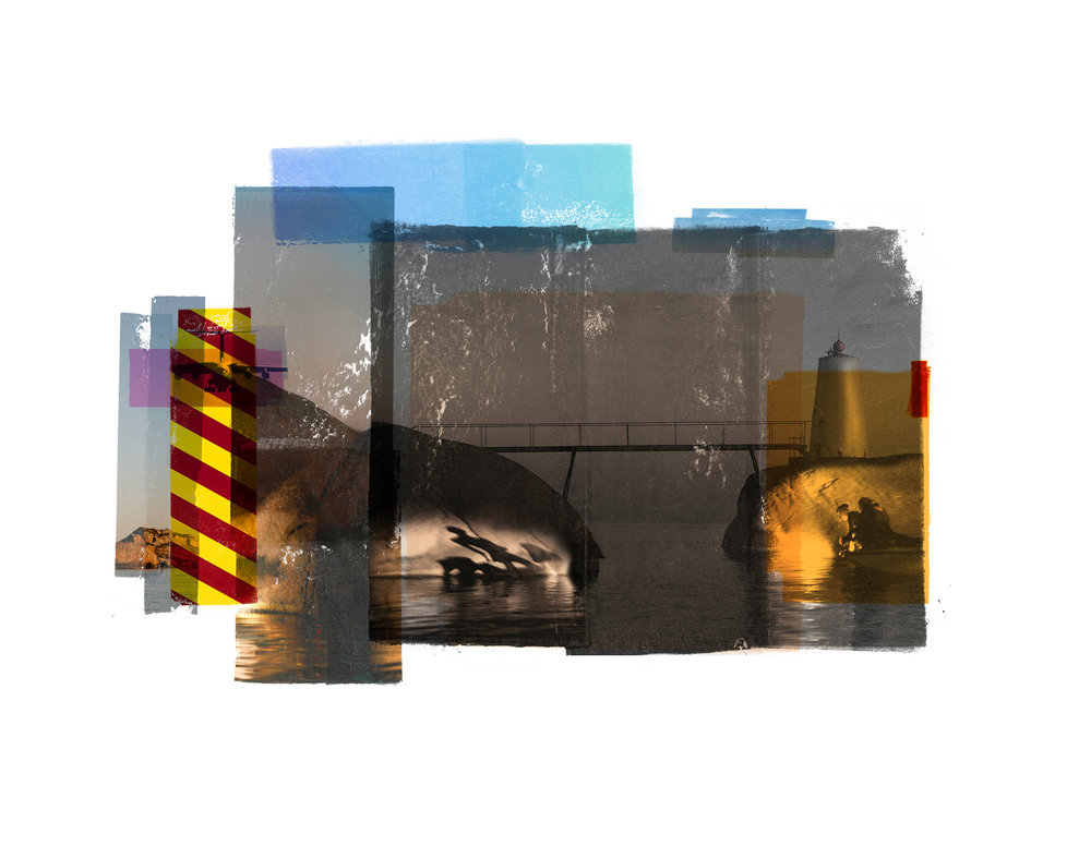 Bridge / Teenage lux ( Archipelago )  Original pigment print / BFK rives 250 gr 25 x 20 cm / 7,8 x 9,8 in Edition of 70 + 7 Ap Editeur: Per Fronth Studios / Henrik Aunevik  09/2014: