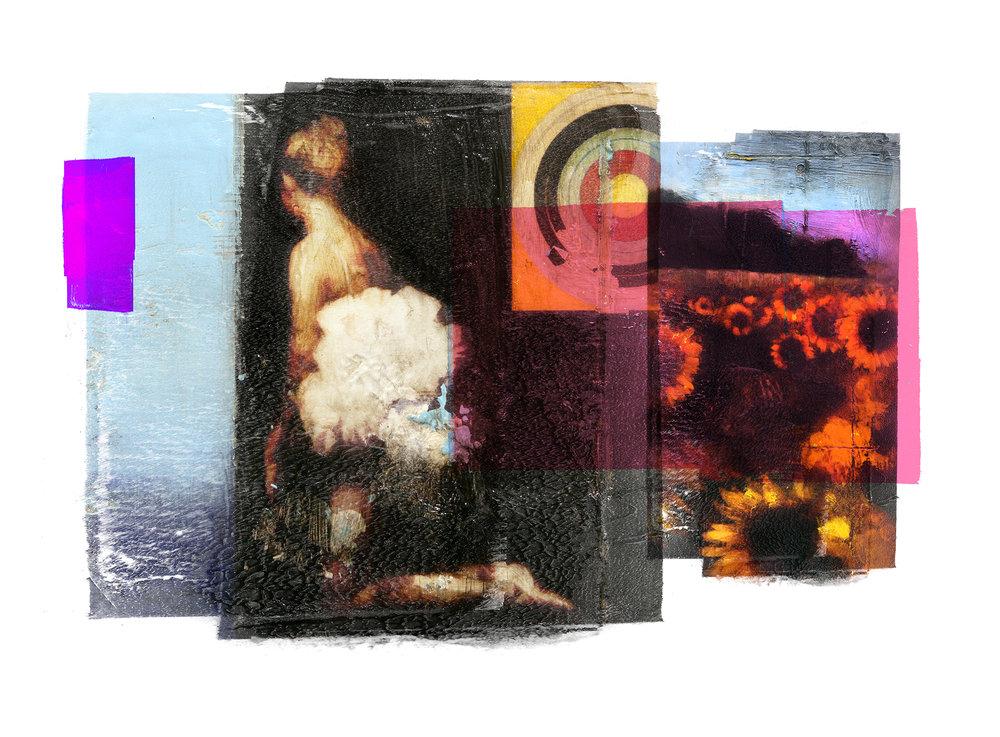 Conflict / Target / Sunflower San Mori  Original pigment print / BFK rives 250 gr 76 x 56 cm / 22 x 30 in Edition of 50 + 7 Ap Editeur: Per Fronth Studios / Henrik Aunevik  19/2014: