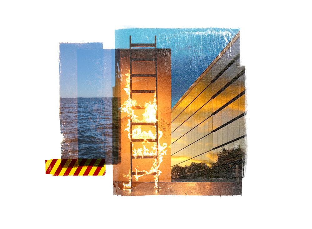 Venia / Split Sky  Original pigment print / BFK rives 250 gr 20 x 20 / 7,8 x 7,8 in Edition of 50 + 7 Ap Editeur: Per Fronth Studios / Henrik Aunevik  20/2014: