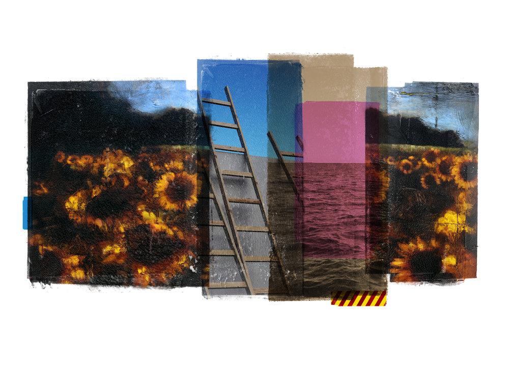 Venia / Sunflower / San Mori  Original pigment print / BFK rives 250 gr 76 x 56 cm / 22 x 30 in Edition of 50 + 7 Ap Editeur: Per Fronth Studios / Henrik Aunevik  21/2014: