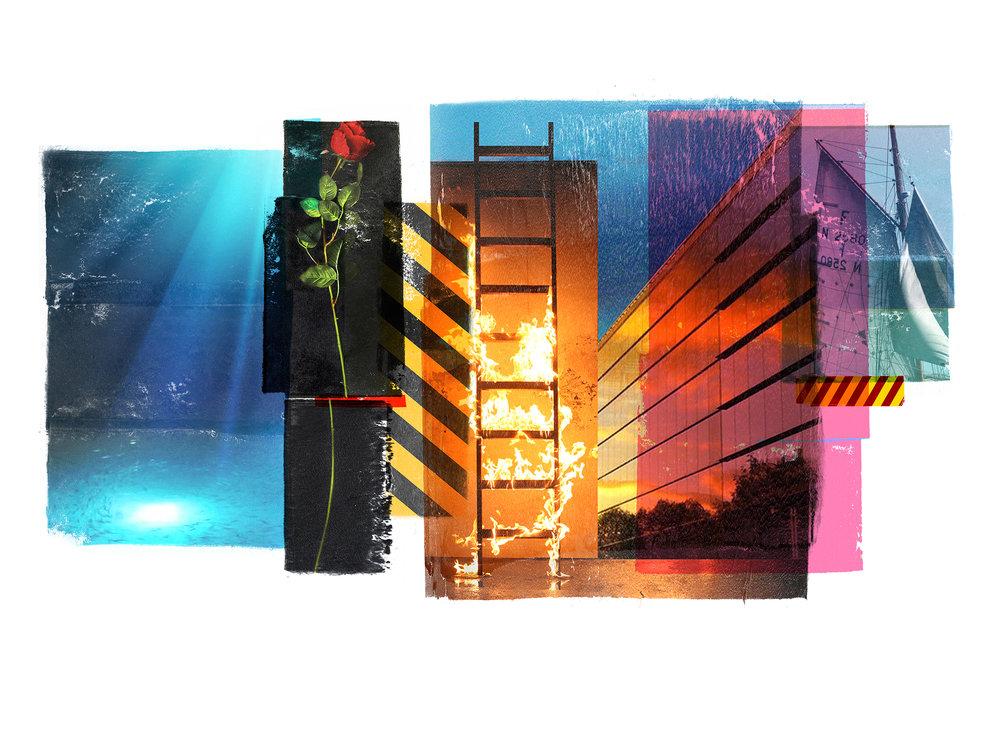 Venia / Mapping the surface  Original pigment print / BFK rives 250 gr 76 x 56 cm / 22 x 30in Edition of 50 + 7 Ap Editeur: Per Fronth Studios / Henrik Aunevik  22/2014: