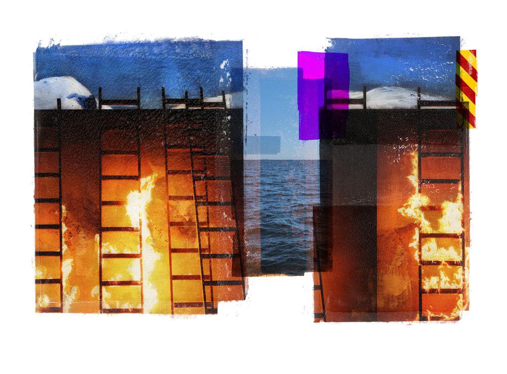 Venia / Inner Peace  Original pigment print / BFK rives 250 gr 76 x 56 / 22 x 30 in Edition of 50 + 7 Ap Editeur: Per Fronth Studios / Henrik Aunevik  28/2014:
