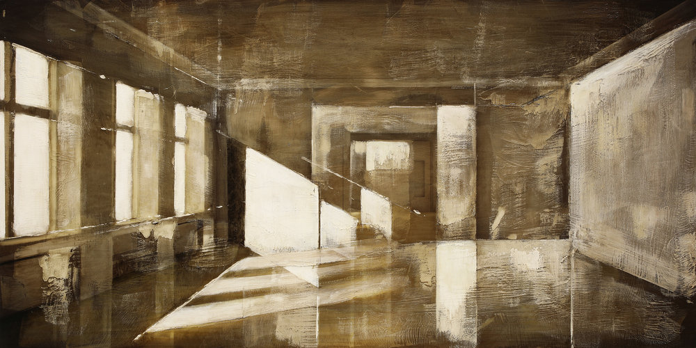 Idle Wharf / January Zenit ( Archipelago)  Mixed Media / Oil on MDF 125 x 120 cm / 49 x 47 in Ver I.: Private Collection / Norway 017