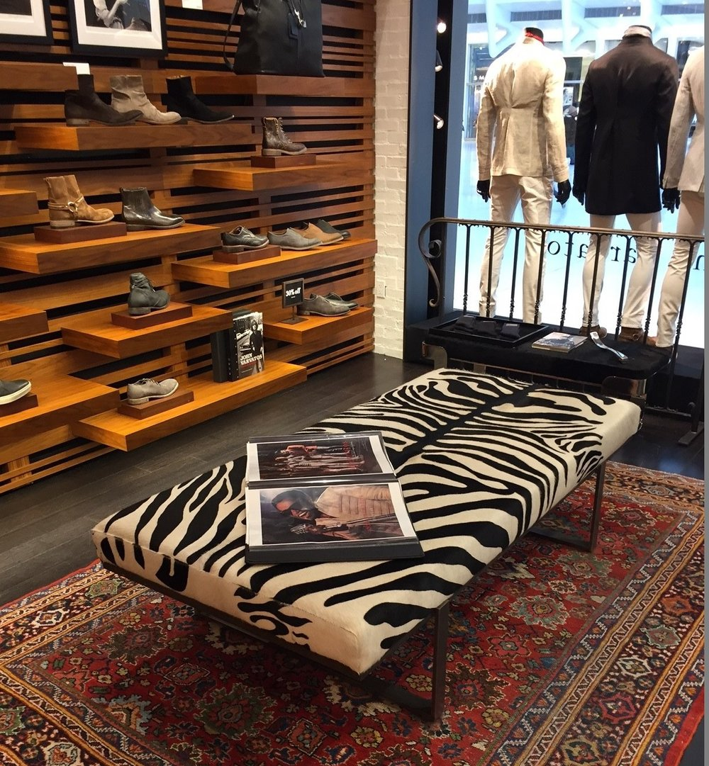Upholstered Bench for John Varvatos