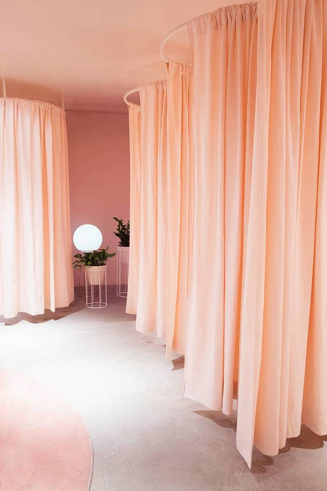 Fitting Room Curtains, Sewing & Installation