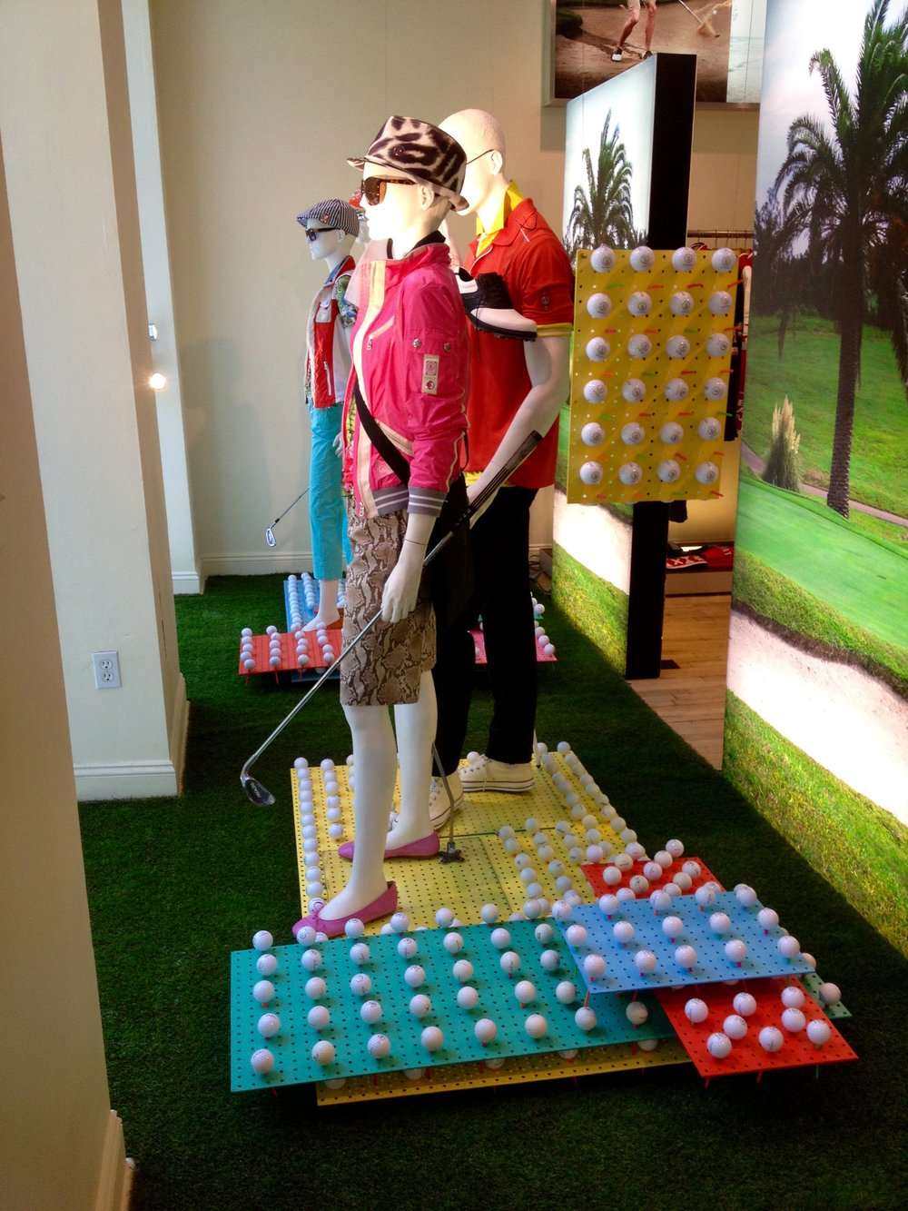 Golf Window Display for Bogner