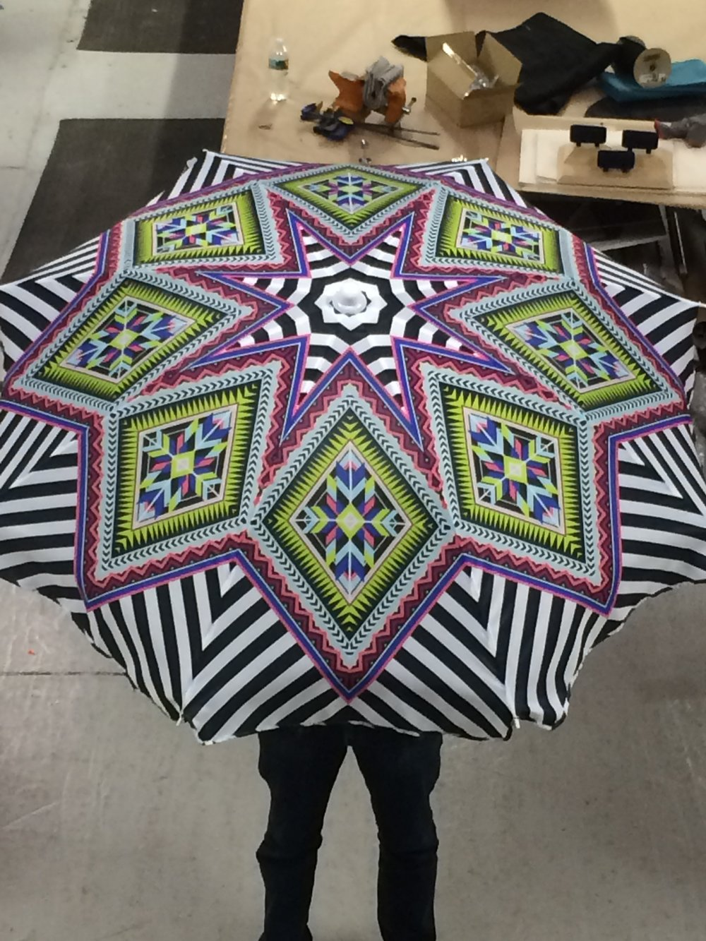 Printed Fabric Umbrella