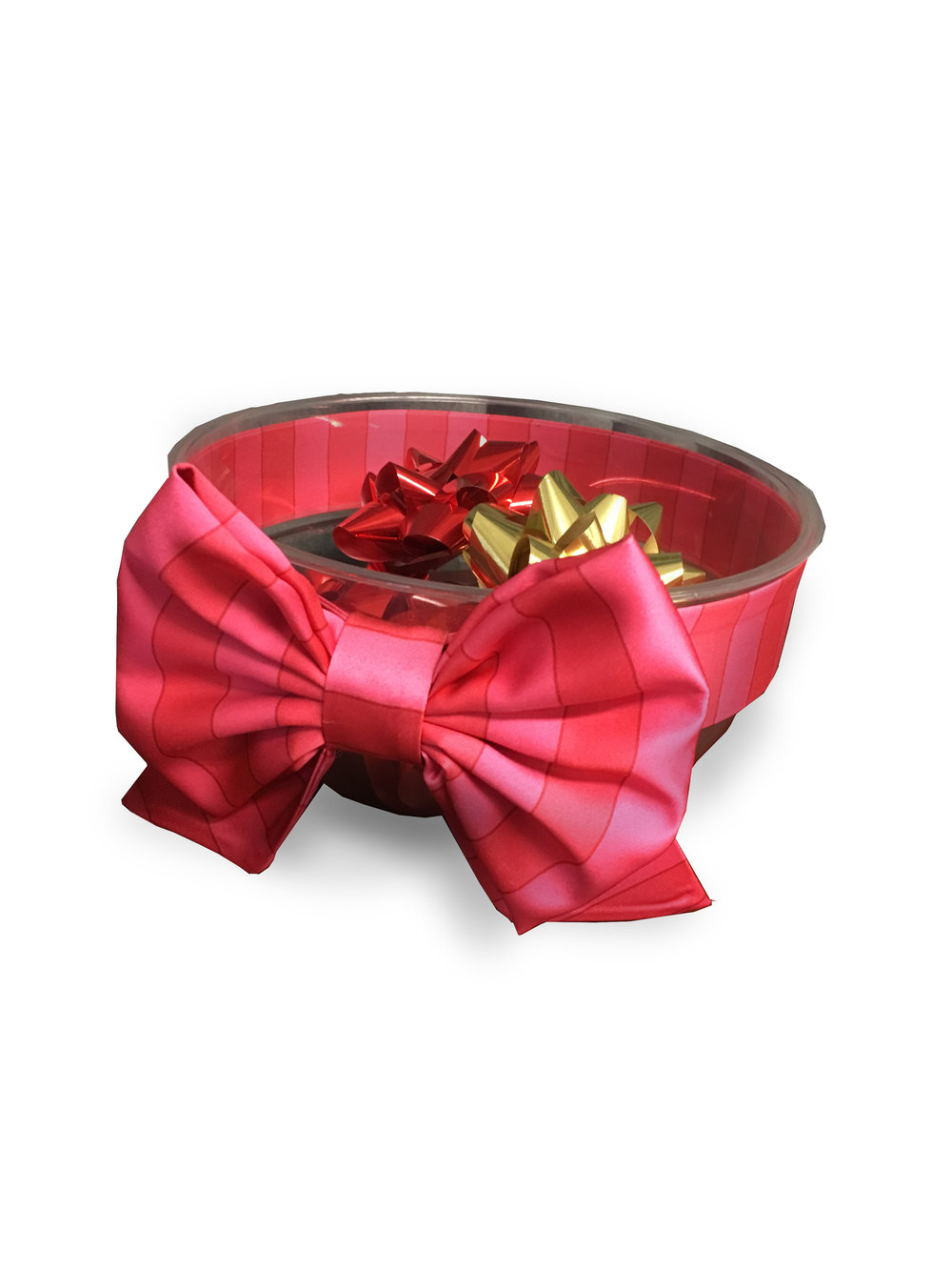 Custom Printed Ribbon and Pre-Tied Bow to fit bowls