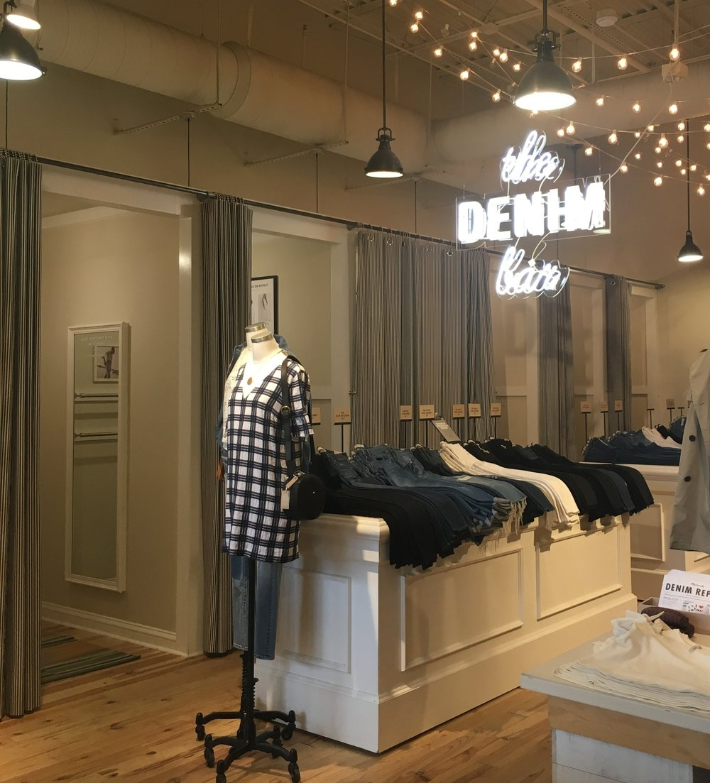 Fitting Room Curtains for Madewell