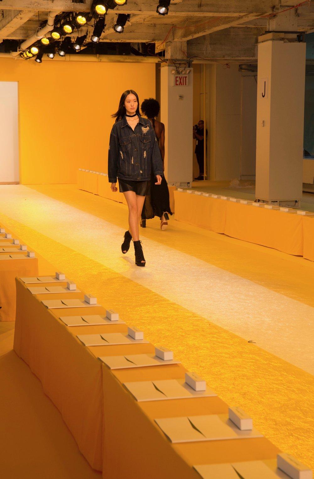 Slipcovers & Floor Runner for Akris Fashion Show Spring 17
