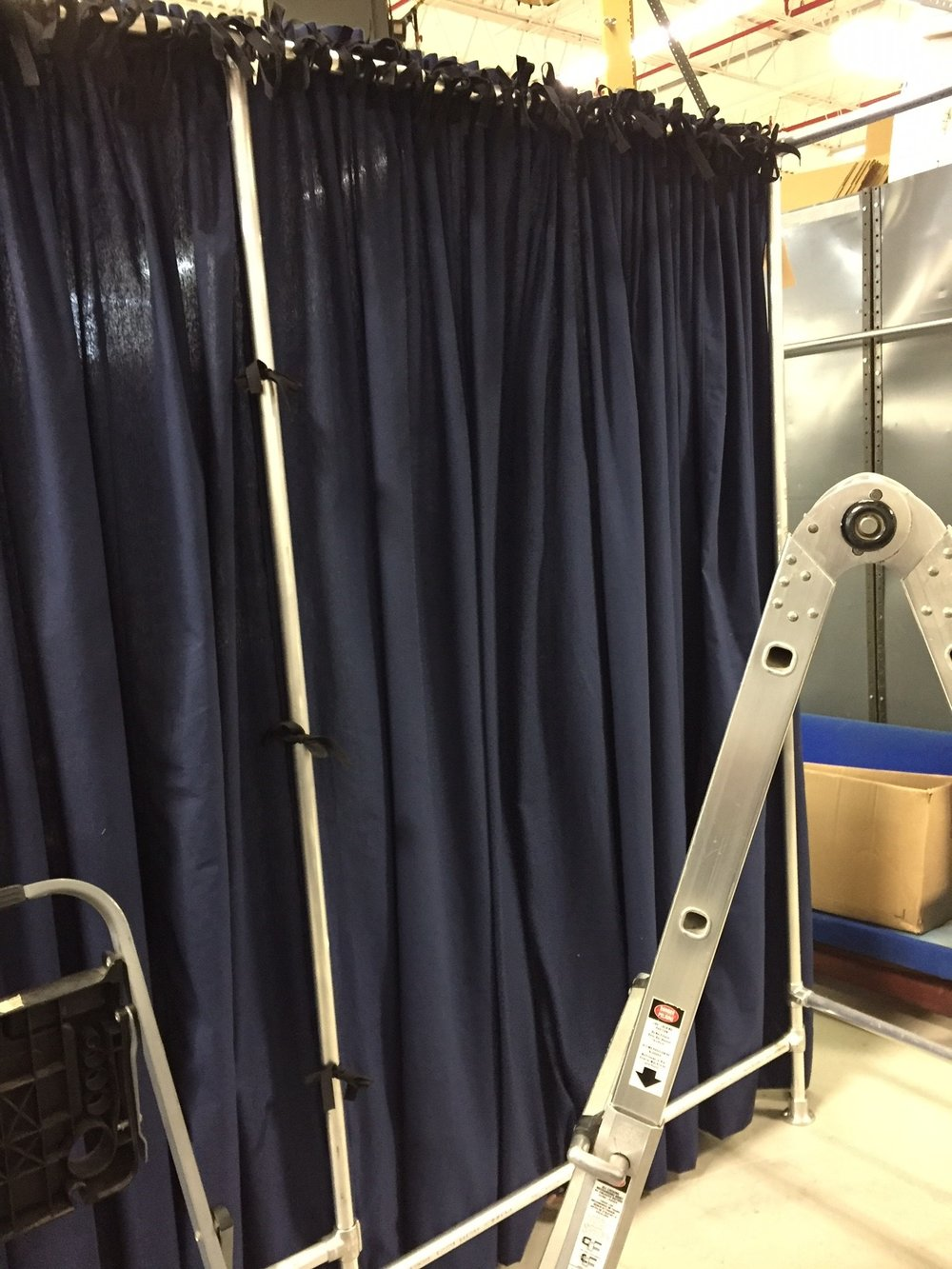 Pop Up Fitting Room Curtains