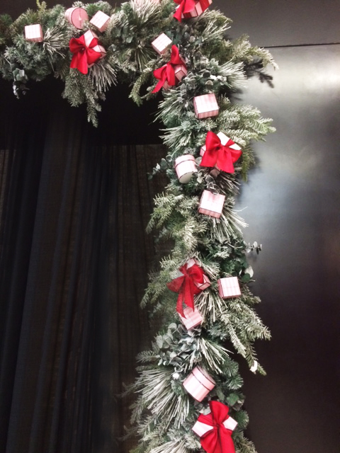Garland with Silk Bows and Small Gifts