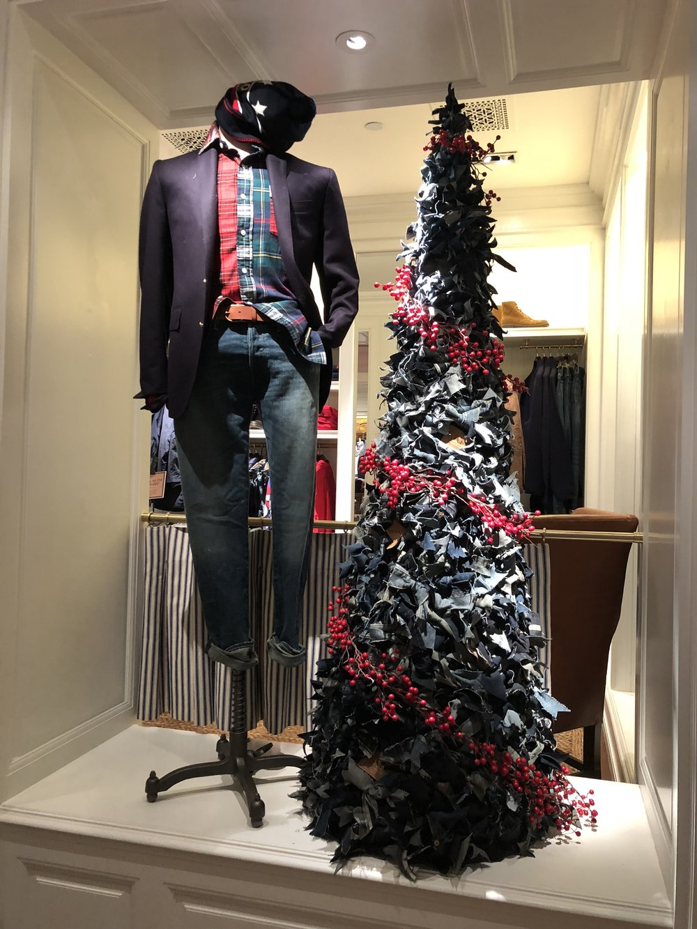 Denim Holiday Tree for Ralph Lauren Flagship