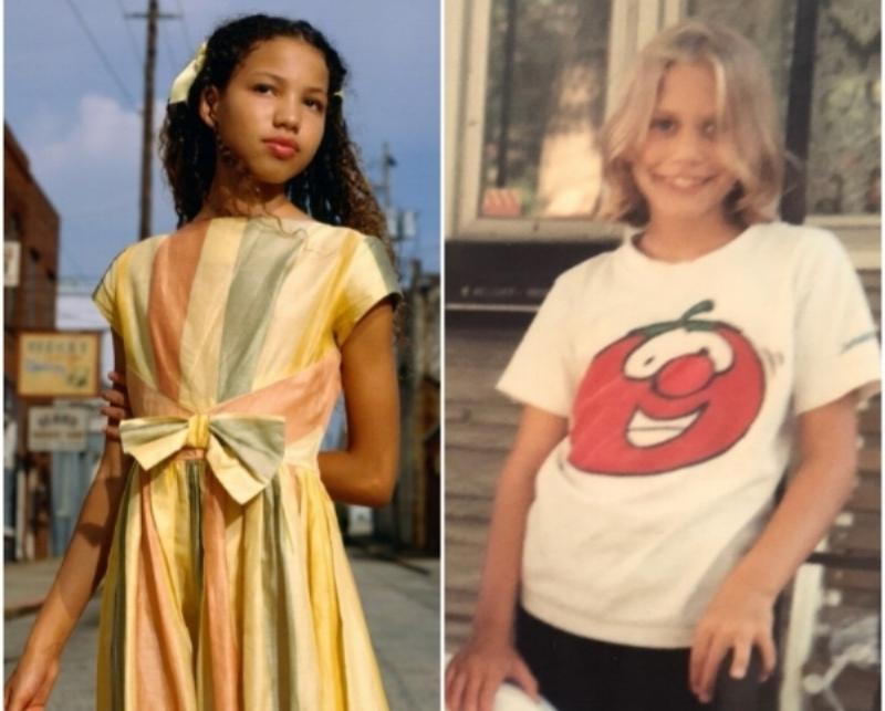 LEFT: Sheyann Webb (Played by Jurnee Smollett)             RIGHT: Me Age 10