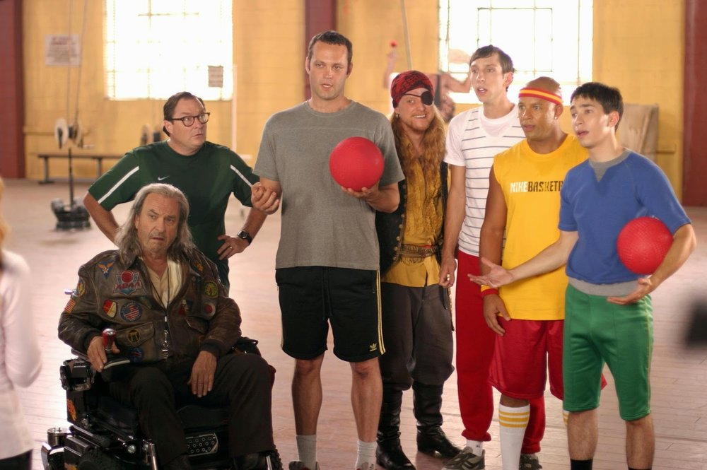 The Average Joes learning how to play dodge ball.