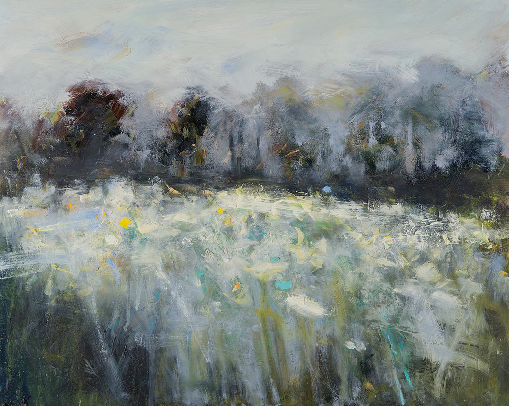 Field of Narcissi.  Oil on board. 52 x 65cm  Sold