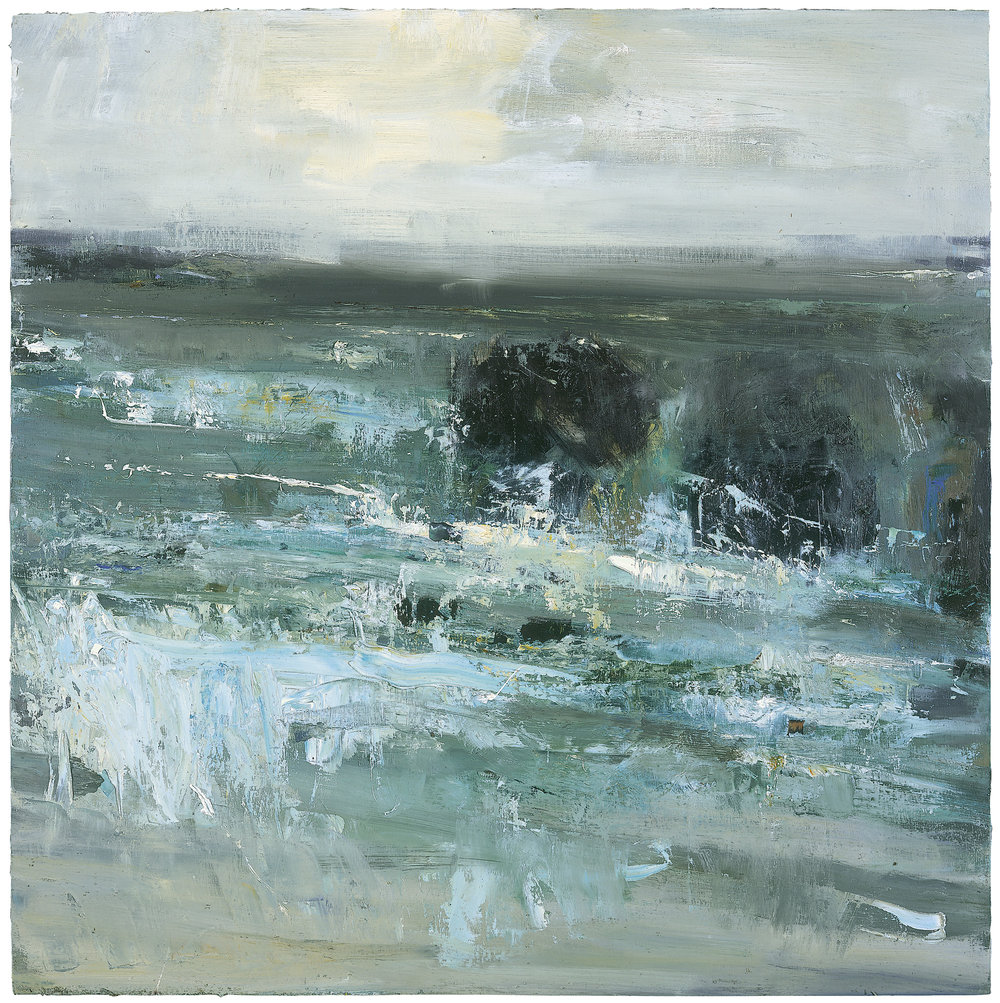 Black Rocks, Godrevy.  Oil on board. 74 x 74cm  Sold