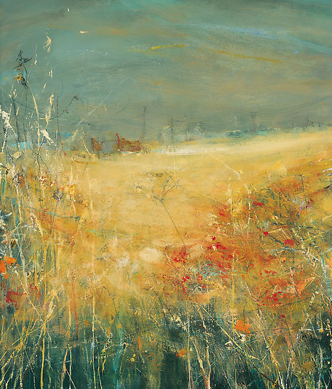 Farm near Treveal, Wet Autumn Fields.  Oil on board. 71 x 61cm.  Sold