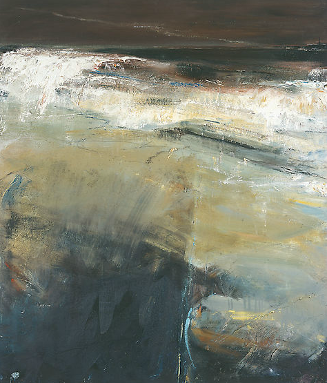 Black Sea, Cape Cornwall.  Oil on board. 106 x 91cm  Sold