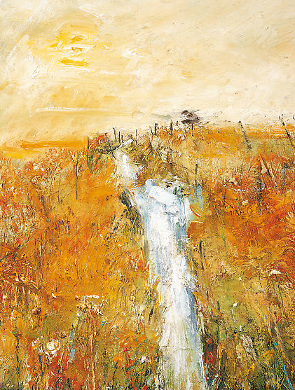 Dartmoor Stream, Autumn.  Oil on board. 52 x 40cm  Sold