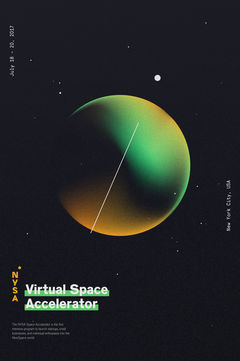Virtual Space Accelerator - The NYSA Virtual Space Accelerator is the first intensive program to launch startups, small businesses, and individual enthusiasts into the NewSpace world.