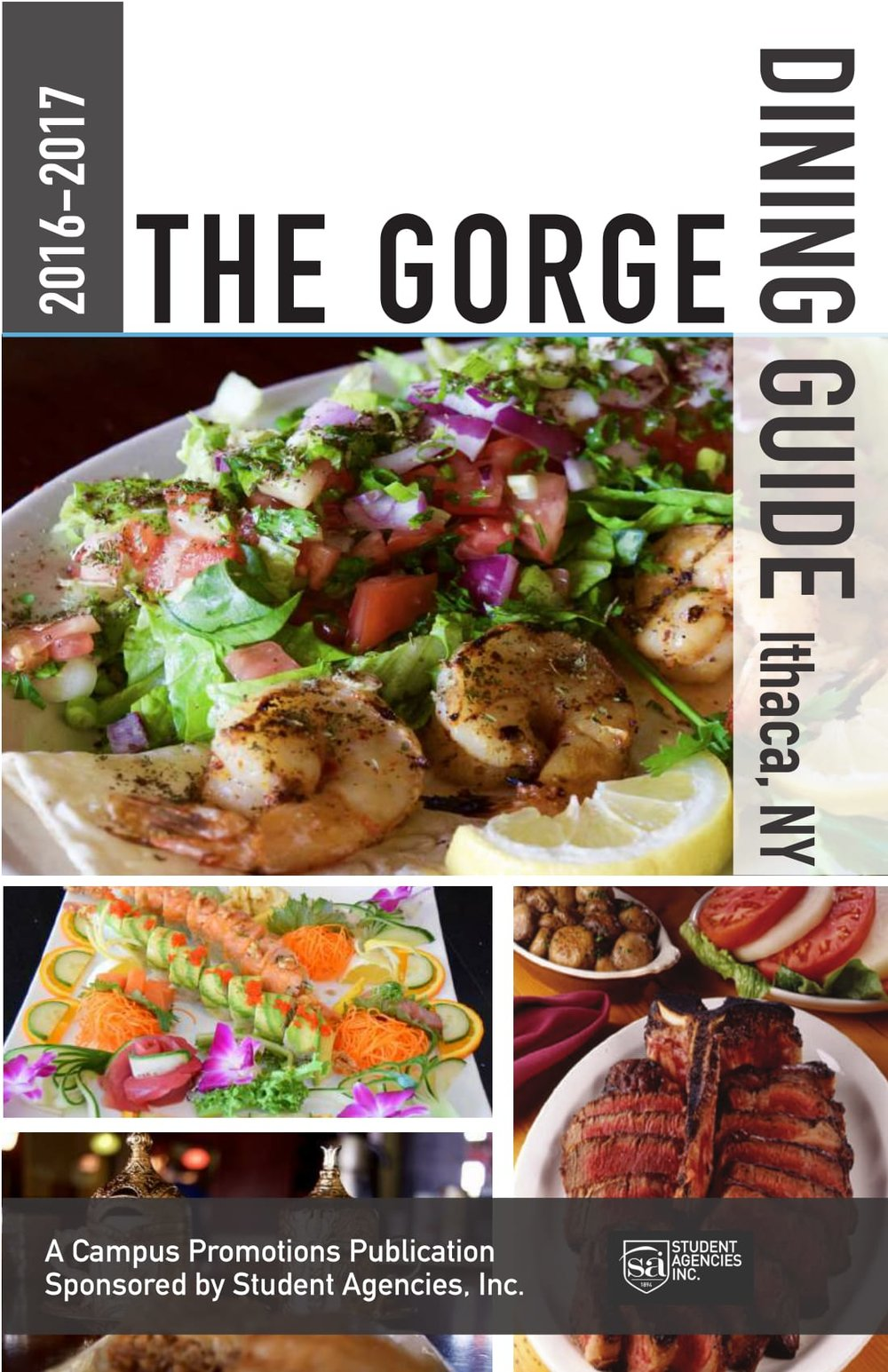 Ithaca Gorge Dining Guide 2016-2017 Cover