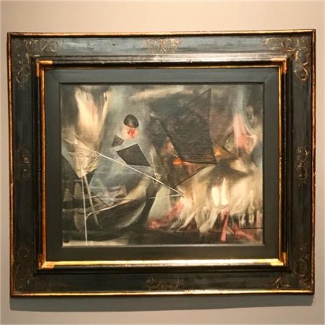 "16th c. Italian frame shown at Sothebys Contemporary Latin American exhibition  Matta, ""L'impossible de l'un de l'autre"", 1943"