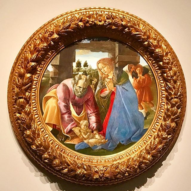 "Beautiful Botticelli tondi on view @mfaboston ""The Nativity"" 1482-85. Tempera and Oil on board.  Wishing you a wonderful art filled weekend!"